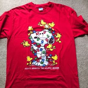 Snoopy and Woodstock Christmas t shirt. NWOT